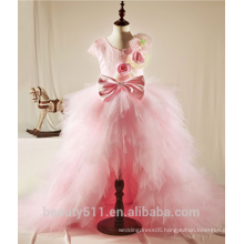 Baby Girls Party Wear Dress Children Girl 7th Birthday Party Dress Fashion Girl Dress ED677
