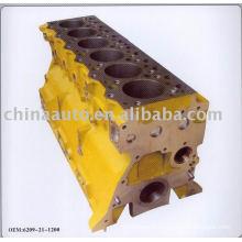 Moulage de bloc-cylindres moteur pour komatsu pc200-5