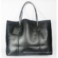 Guangzhou Supplier Fashionable Genuine Leather Lady Shopper Handbag Bag (202)