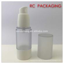 Botella airless cosmética plástica de 30ml, botella airless redonda del plástico, botella airless cosmética