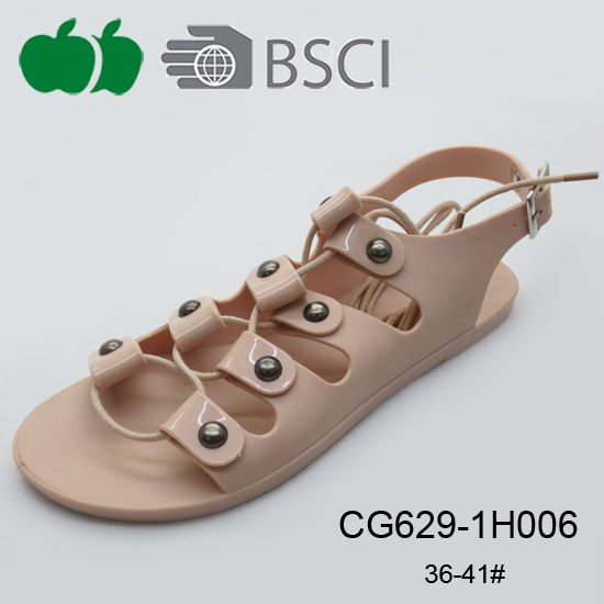 crystal plastic sandals