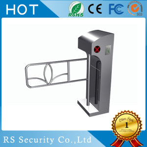 SS304 Automatic Turnstiles Supermarket Swing Barrier Gate