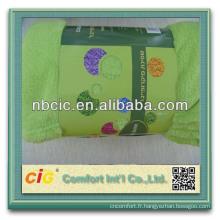 Couvertures en molleton doux couleur unie à bas prix Super doux molleton en Stock