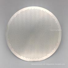 0,2 mm Lochgröße 0,2 mm Dicke Edelstahl Ätzen Filterscheibe