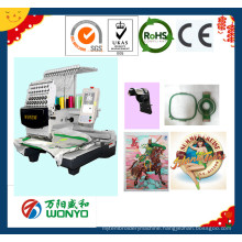 Wy1201CS Single Head 3D Cap/Photos/T-Shirt/Logos Embroidery Machine