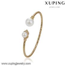 51777 brazaletes elegantes xuping, brazalete de mujer bañado en oro para Boda