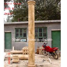 Golden Sand Marble Stone Sculpture Colum (SY-C004)