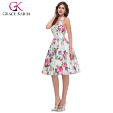 Wholesale Dress Grace Karin New Halter Design Cotton Cheap Vintage Retro 1950s CL6075-2#