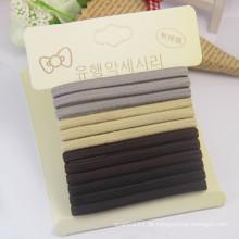Hochwertige Karte verpackt flache 5mm elastische Gummi Haarbänder (JE1575)