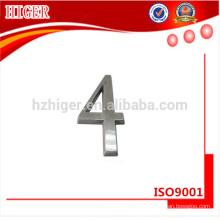 Fabricación profesional de metal de aluminio números