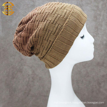 Fashion New Knitting Strip Gradient Color Men Knitting Winter Hat