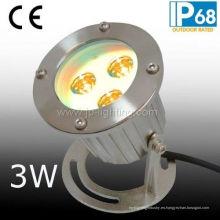 Luz subacuática del punto de IP68 3W LED