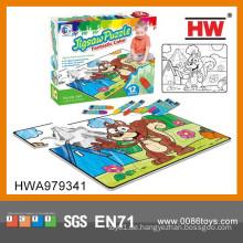 Interessante Puzzle Spiele Kinder Zeichnung Bleistifte Set