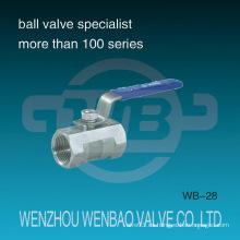 ANSI 1-PC hembra roscada de acero inoxidable 304 Válvula de bola manual