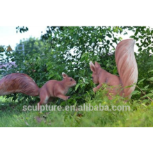 Modern Large Fiber glass animal Sculpture for garden decoration