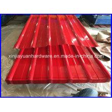 Hoja de acero corrugado Prepainted de alta calidad para la construcción
