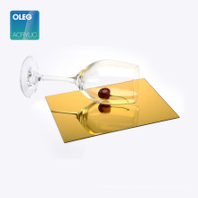 Wholesale price high quality flexible acrylic gold mirror plastic sheet