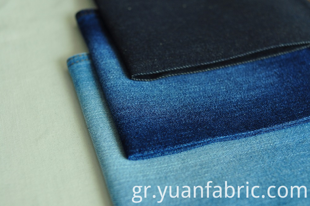 97.Good Quality Yarn Dyed Cotton Polyester Blue Woven Denim Fabric