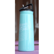 Única garrafa de água de aço inoxidável Ssf-580 dos esportes exteriores da parede