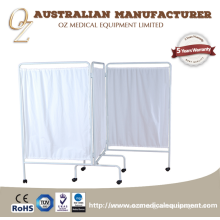 Best Quality Hospital Screen Use Three Folding Screen Stainless Steel Medical Ward-screen With Wheels  Best Quality Hospital Screen Use Three Folding Screen   Stainless Steel Medical Ward-screen With Wheels