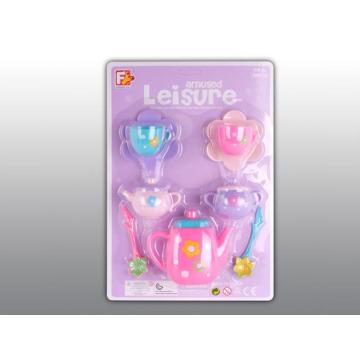 Jogo de plástico de aprovação en71 fingir jogar brinquedos conjunto de chá (10214276)