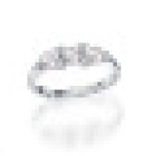 Natural de Água Doce Perfeitamente Rodada Pérola Genuine 925 Sterling Silver Flutuante Encantos Anel de Casamento para As Mulheres de Jóias Finas