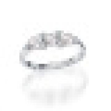 Natural de agua dulce Perfectamente redonda perla auténtica plata de ley 925 flotante encantos anillo de bodas para mujeres joyería fina