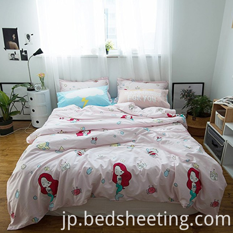 Organic Cotton Mermaid Printed Duvet Cover