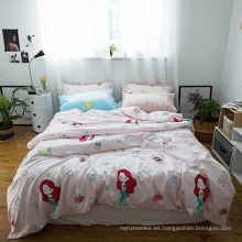 Funda nórdica estampada de algodón orgánico de colores para niños