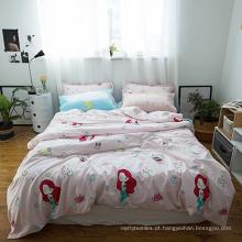 Algodão orgânico colorido impresso capa de edredão de crianças