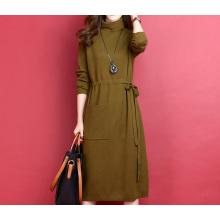 PK18ST077 Tunika lange Frauen Kleider pulloverfashion Kleid Kaschmirpullover
