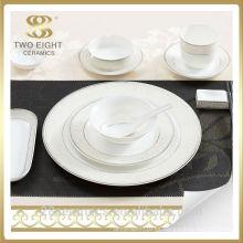 Vajilla barata al por mayor de la etiqueta de cerámica de chaozhou, cena de China fijada para el hotel