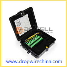 12 Cores Fiber Optic Terminal Box, Black Color