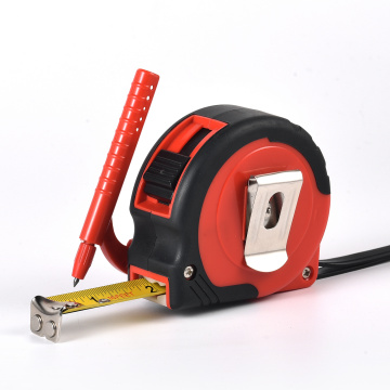 Cinta métrica de hoja de acero de alta calidad con logotipo personalizado con lápiz