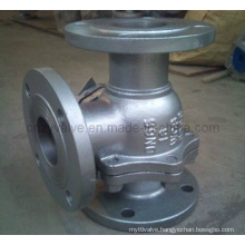 """L"" Three-Way Type Dn65 Pn16 Floating Ball Valve"