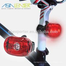 Nouveaux produits alimentés par 2 * AAA Battery Flash-100% On-Off Rear Bike Light