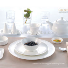 Line-Serie Hotel weißes Porzellan Geschirr, Geschirr Set, Porzellan Geschirr