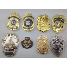 Benutzerdefinierte hochwertige weiche Emaille Metall Gold Silber Polizei Abzeichen