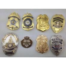 Custom High Quality Soft Enamel Metal Gold Silver Police Badge