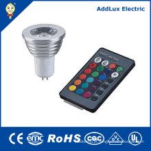 Refletor LED de controle remoto 5W Gu5.3 ou GU10 COB