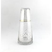 Klarglas-Pikther&Glasbecher mit Gold-Aufkleber