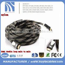 El cable HDMI de alta velocidad 2.0 apoya la TV del fuego y otros dispositivos HDMI-Habilitados Cable HDMI2.0 / 4k compatible