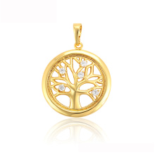 34001 xuping 24k gold plated China wholesale round tree of life pendant