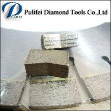 Cercle de coupe lisse Segment de diamant de lame de scie pour la pierre