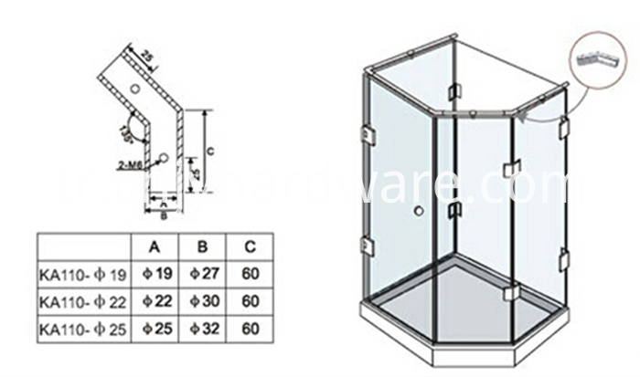 glass shower screen fitting