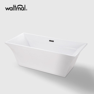 Galina Center Drain Soaking Tub i vitt