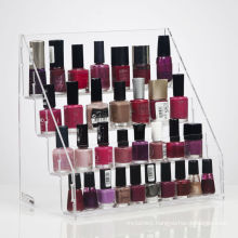 Tiered Clear Acrylic Nail Polish Rack