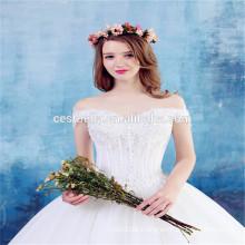 Qualitäts-reizvolles weißes süßes Brautkleid-Hochzeits-Kleid 2016 schönes weg Schulter Aschenputtel-weißes Hochzeitsfest-Kleid