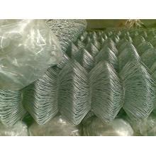 PVC Revestido Chain Link Fence Mesh para Esgrima