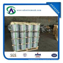 Alambre de púas galvanizado de recubrimiento de zinc pesado